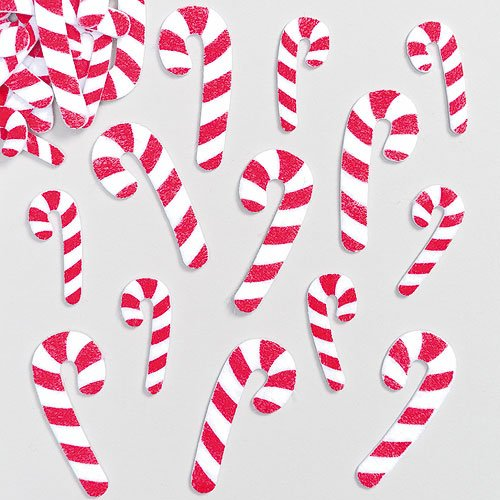 Baker Ross Candy Cane Felt Stickers for Children for Decorating Christmas Cards Crafts and Collage (Pack of 100)