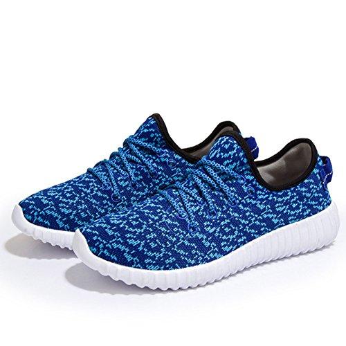 Unisex Herren Damen Erwachsene Sneakers Schnürer Freizeitschuhe Laufschuhe Sportschuhe Turnschuhe Blau