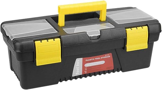 Sourcingmap - Caja de herramientas de plástico con bandeja y ...