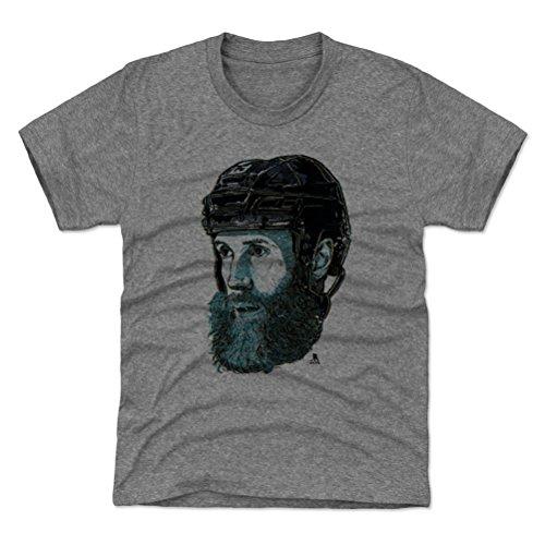 500 LEVEL Joe Thornton San Jose Sharks Youth Shirt (Kids X-Small (4-5Y), Tri Gray) - Joe Thornton Bust ()