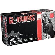 AMMEX - GWBN - Nitrile Gloves - Gloveworks - HD, Disposable, Powder Free, 6 mil, Black