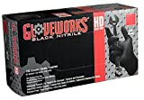 AMMEX - GWBN48100 - Nitrile Gloves - Gloveworks - HD, Disposable, Powder Free, 6 mil, XLarge, Black (Case of 1000)