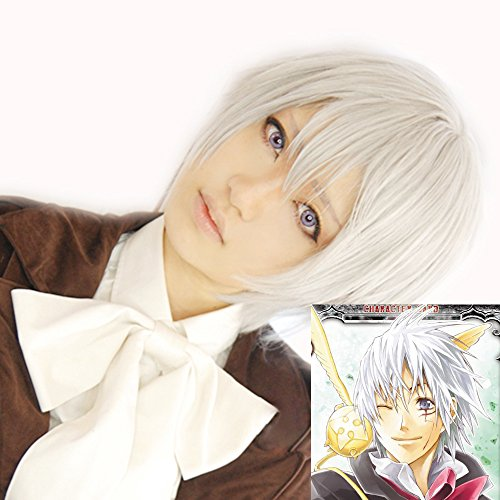 D Gray Man Wig Allen Walker Cosplay Csotume Accessories Halloween ()