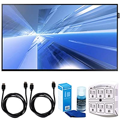 """Samsung DC40E Slim 40"""" Direct-Lit LED Display w/ Accessories Bundle Includes, 2x 6ft. HDMI Cable, SurgePro 6-Outlet Surge Adapter with Night Light & Screen Cleaner For LED TVs"""