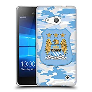 Official Manchester City Man City FC Home Colorways Camou Soft Gel Case for Microsoft Lumia 640 / Dual SIM