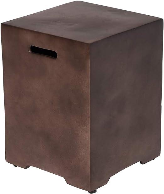 HOMPUS Elegant Hideaway Dark Bronze Side Table Standard 20 LP 16 ...