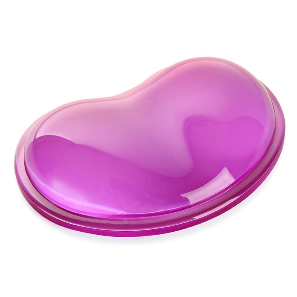 Silicone Wrist Rest, Kingshun Heart-shaped Translucence Gel Wrist Support Cool Hand Pillow (Purple)