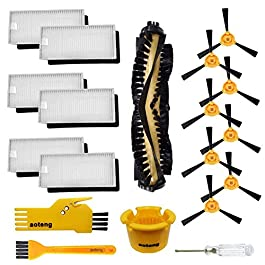 aoteng Accessories for Ecovacs Deebot N79 N79S DN620 DN621 DN622 Robot Vacuum Cleaner Replacement Parts Pack of Main Brush, Hepa Filter, Side Brush