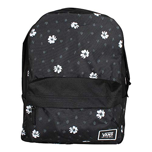 VANS Realm Classic Backpack Black Abstract Daisy Schoolbag VN0A3UI7YDN Vans bags