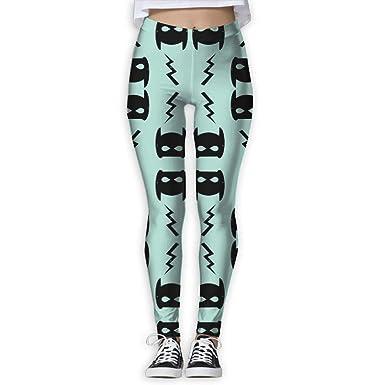 98efa1071 GIAHSO Women s Bat and Bolt Mint Trendy Superhero Design for Kids  Activewear High-Waist Tights Leggings Yoga Pants at Amazon Women s Clothing  store