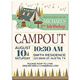Out in The Wild Camping Birthday Party Invitations