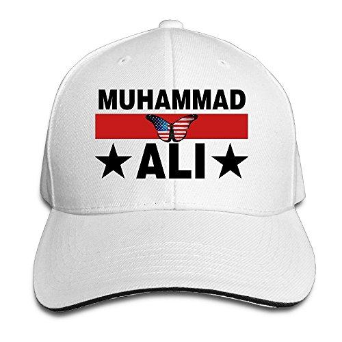 White Ortiz Clay (Usa Butterfly Flag Boxing Champion Ali Sandwich Bill Baseball Hats)