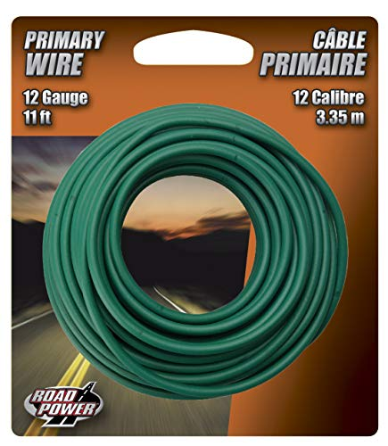 Road Power 55678933 12-1-15 Primary Electrical Wire, 12 Awg, 11 Ft, PVC, 11', Green