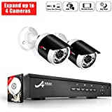 PoE Home Security Cameras System, 1080p 2CH POE NVR 1TB HDD - 2 HD Weatherproof Outdoor Indoor Surveillance Camera System, Power Over Ethernet, Free Remote Access, Auto Day Night, ANRAN