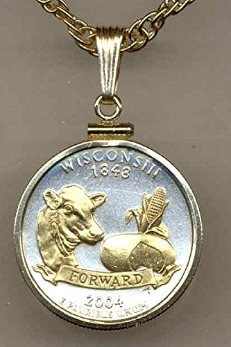 necklace-gorgeous-2-toned-gold-on-silver-wisconsin-statehood-quarter-coin
