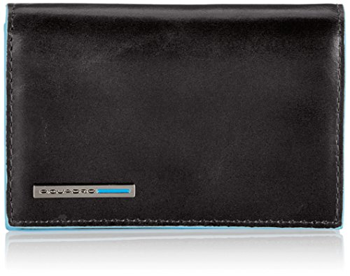 Piquadro Business Card Holder, Black, One Size by Piquadro