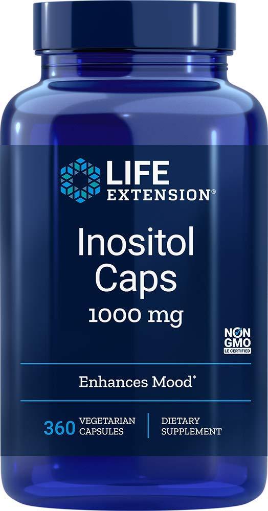 Life Extension Inositol 1000 mg, 360 Vegetarian Capsules