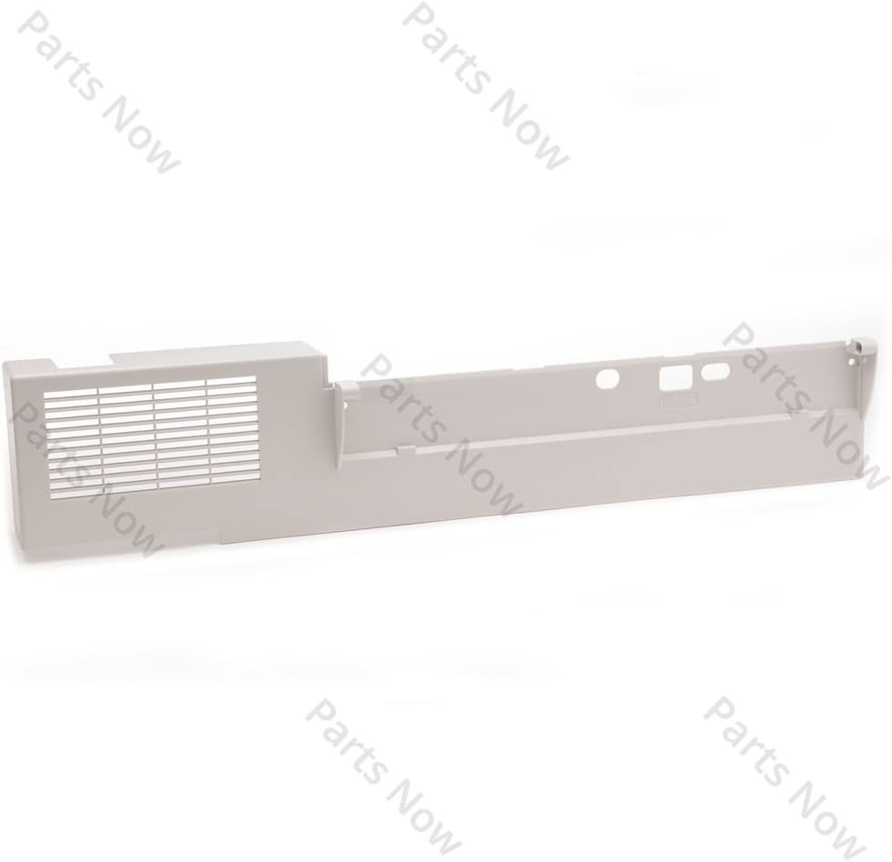 HP RB2-8054-000CN Left side cover - Serves as the mounting bracket for the ADF paper output tray - Mounts on the upper left side of the scanner assembly