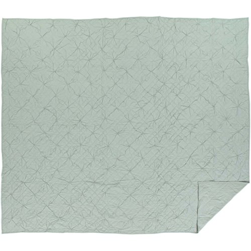 VHC Brands Farmhouse Bedding-Aubree Green Quilt, King, Sea (Glass Quilt)