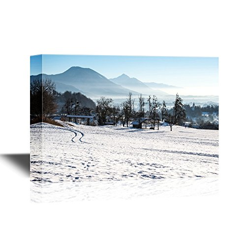 Winter Landscape with Snow and Mountains Gallery