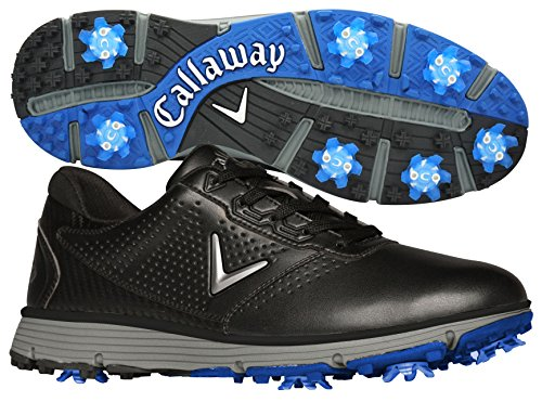 Leather Waterproof Golf Shoes (Callaway Men's Balboa Trx Golf Shoe, Black/Grey, 11 D US)
