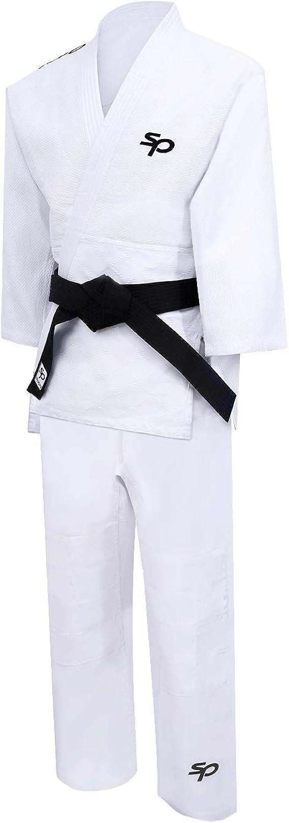 A0 A1 A2 A3 A4 A5 Algod/ón Kimono de Artes Marciales Profesionales Preencogido para Entrenamiento y competici/ón Starpro BJJ Gi 450 Gramos Blanco y Negro Hombres y Mujeres
