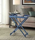 Convenience Concepts Designs2Go Folding Tray Table, Blue
