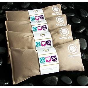 Happy Wraps Namaste Yoga Lavender Eye Pillow Tan Set of 4