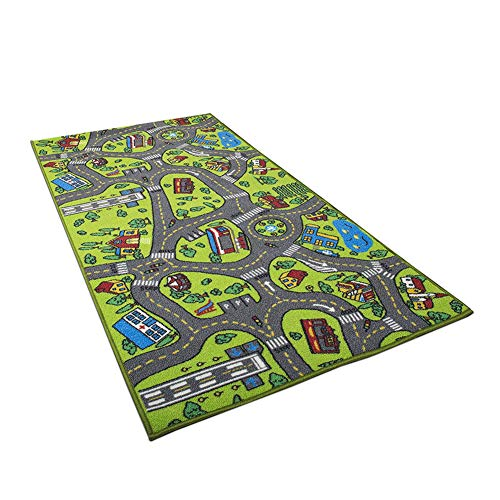 lightclub Children Kids Educational Car City Road Carpet Baby Crawling Rug Mat Play Toy Puzzle Mat 1 -