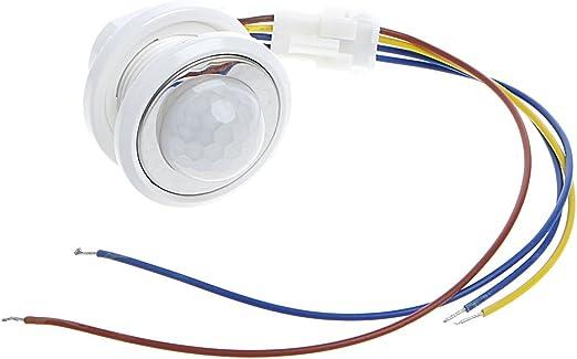 Amazon.com: Interruptor de luz con sensor de movimiento PIR ...