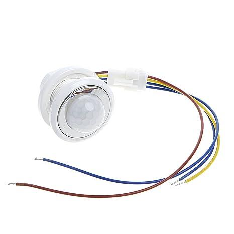 40 mm LED Detector – Detector de movimiento por infrarrojos PIR Interruptor con retardo ajustable