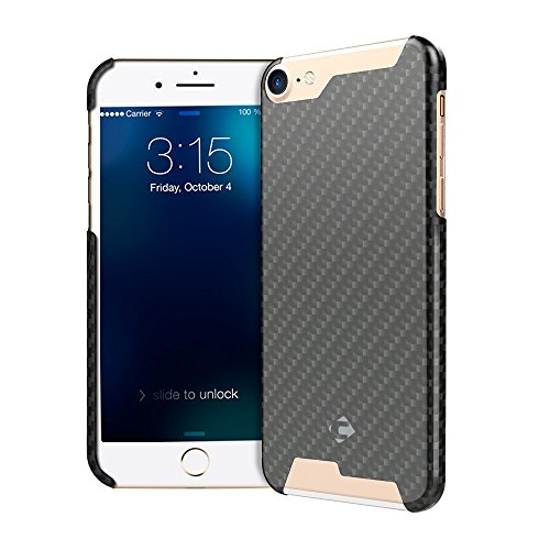 CORNMI iPhone 7 Handmade Article Ultra Thin Luxury Pure Carbon Fiber Case for iPhone 7 Cover + Free Tempered Glass Screen Protector With Gift Box ( iP…