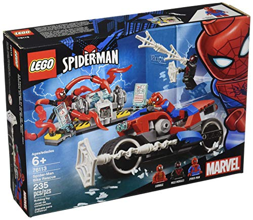 LEGO 6251072 Marvel Spider-Man Bike Rescue 76113 Building Kit (235 Piece), Multicolor -
