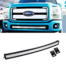 """iJDMTOY 40-42"""" 240W High Power Double-Row Curved LED Light Bar w/ Lower Bumper Mounting Bracket For 2011-2016 Ford F-250 F-350 Super Duty"""