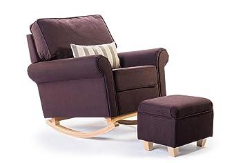 Award Winning Hush Hush Rocking/Nursing/Glider Chair (in Brown)   Converts