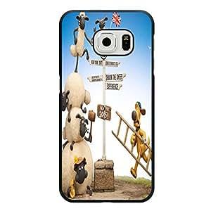 Samsung Galaxy S6 Edge Phone Case,Shaun the Shee Cover Case Beautiful Cartoon Logo New Arrival Premium Phone Accessory with Classic Shaun the Shee Design