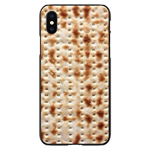 Price comparison product image DistinctInk Case for iPhone X / XS (NOT Max) - Custom Ultra Slim Thin Hard Black Plastic Cover - Passover Matzah