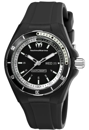 TechnoMarine Unisex 110012 Cruise Sport 3 Hands Black and White Dial Watch