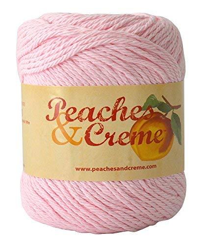Peaches & Creme (Cream) Cotton Yarn Pastel Pink 2.5 oz. Color 11421
