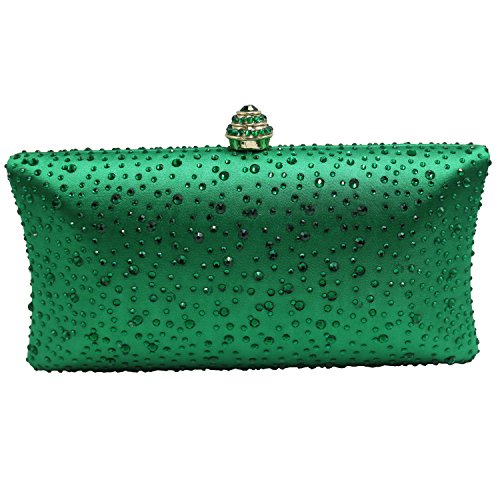 - DMIX Womens Crystal Clutches and Evening Bags Emerald