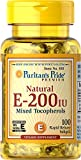 Puritan's Pride Vitamin E-200 iu Mixed Tocopherols Natural-100 Softgels