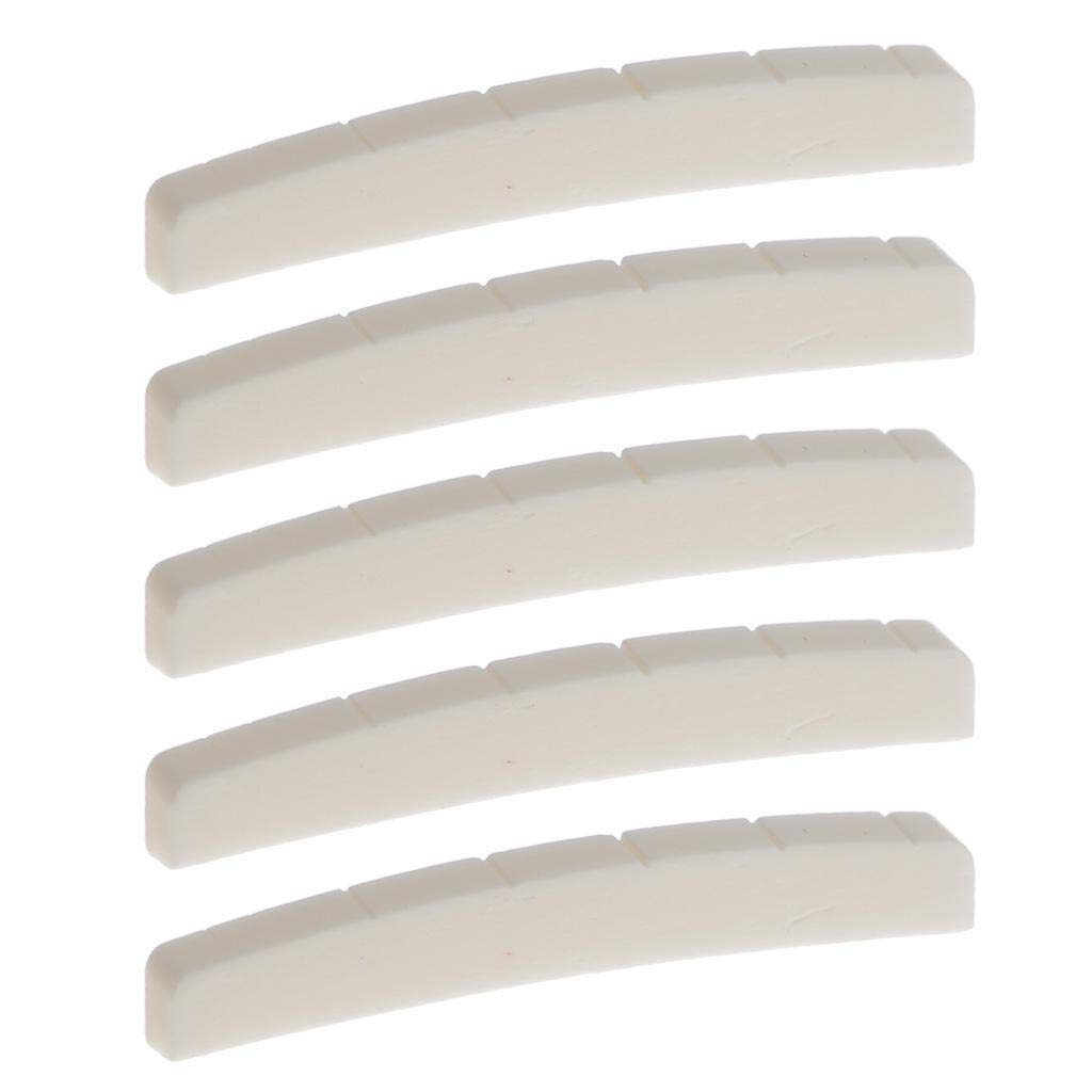 FidgetGear 5x Bone Nut for Fender Stratocaster Telecaster Guitars Parts Pre-cut&Slotted Does not apply