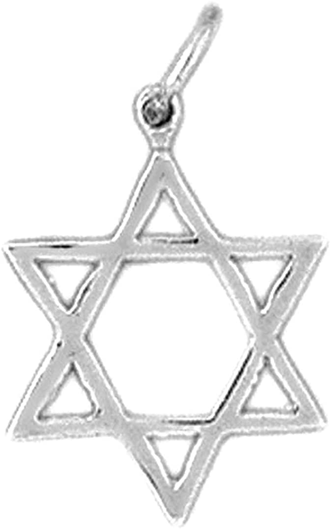 Sterling Silver 925 Star Of David Pendant Jewels Obsession Star Of David Pendant 20 mm