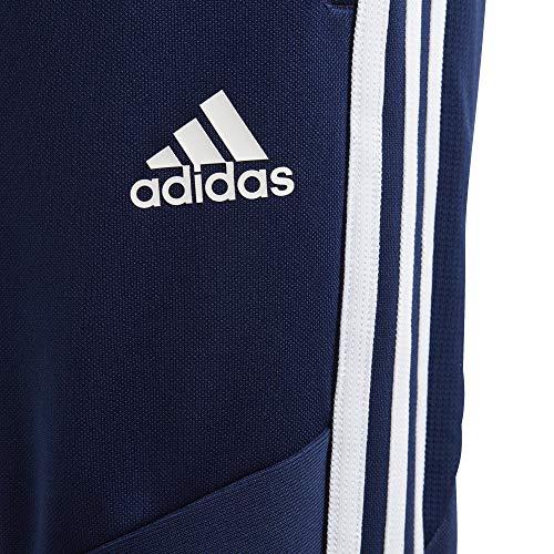 adidas Tiro19 Youth Training Pants, Dark Blue/White, Small
