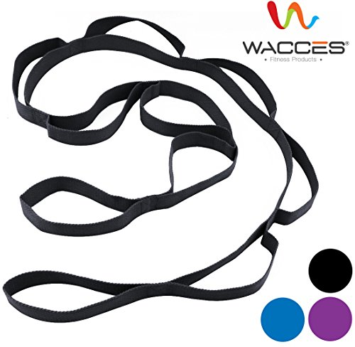 Wacces Yoga Strap Stretch Restore Multi Grip Fitness Pilates Stretching Belt Multicolor