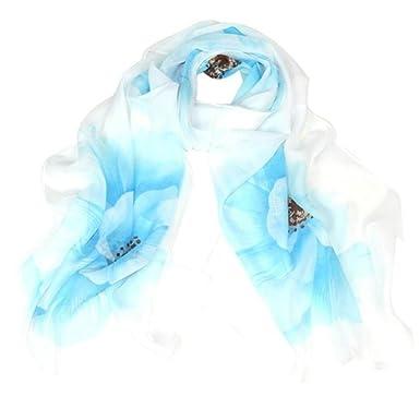 Echarpes et foulards Amlaiworld Femme Longue écharpe Foulards imprimés  Écharpe en velours léopard Orange, violet df45e371026