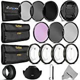 58MM Complete Lens Filter Accessory Kit for CANON EOS Rebel T5i T4i T3i T3 T2i T1i DSLR Camera - Includes: Vivitar Filter Kit (UV, CPL, FLD) + Vivitar Macro Close Up Set (+1, +2, +4, +10) + Altura Photo ND Neutral Density Filter Set (ND2, ND4, ND8) + Carry Pouch + Tulip Lens Hood + Collapsible Lens Hood + Snap-On Front Lens Cap + Cap Keeper Leash + MagicFiber Microfiber Lens Cleaning Cloth