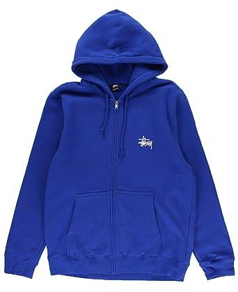 894965951 Stussy Basic Zip Hoodie Men's Dark Blue (Medium) at Amazon Men's ...