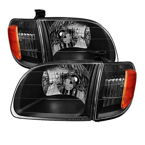 Toyota Truck Headlights - Xtune HD-JH-TTUN00-AM-BK Toyota Tundra Headlight