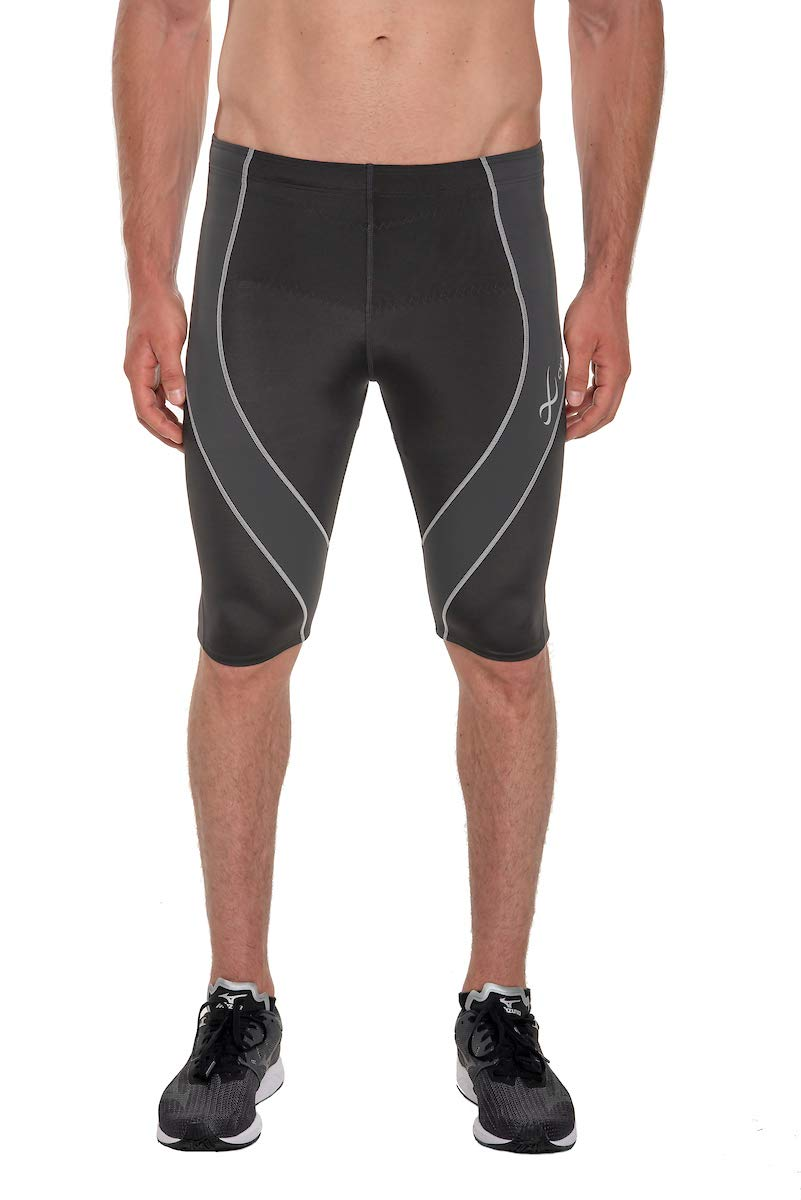 CW-X Men's Endurance Pro Shorts, Charcoal/Charcoal/Silver, Medium by CW-X (Image #1)